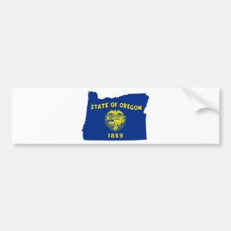 Adesivo De Para-choque Mapa da bandeira de Oregon