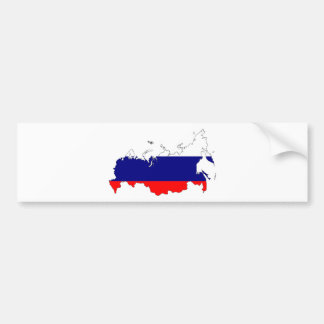 Adesivo De Para-choque Mapa da bandeira de Rússia