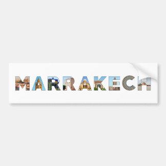Adesivo De Para-choque marco do viagem do texto do símbolo de Marrocos da