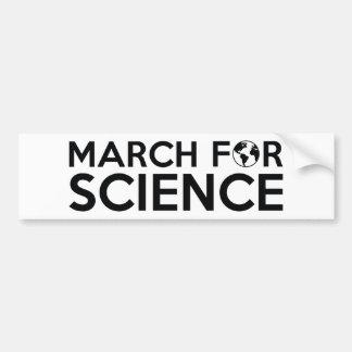 Adesivo De Para-choque Março para a ciência