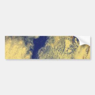 Adesivo De Para-choque Mármore azul e amarelo
