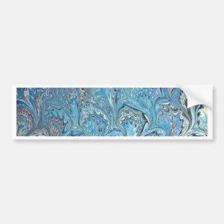 Adesivo De Para-choque Marmorear azul da água dos pés do sapo