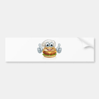 Adesivo De Para-choque Mascote do personagem de desenho animado da comida