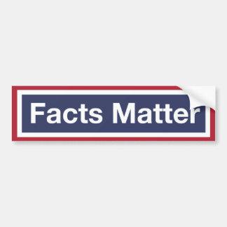 Adesivo De Para-choque Matéria dos fatos. Resista o trunfo!