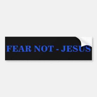 ADESIVO DE PARA-CHOQUE MEDO NÃO - JESUS