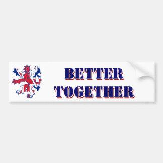 Adesivo De Para-choque Melhore junto a independência escocesa