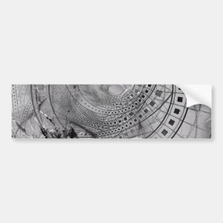 Adesivo De Para-choque Memórias fragmentadas do Fractal e vidro quebrado