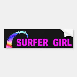 Adesivo De Para-choque Menina do surfista