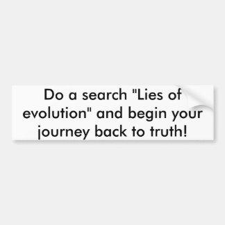 Adesivo De Para-choque Mentiras da evolução