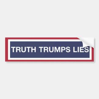 Adesivo De Para-choque Mentiras dos trunfos da verdade