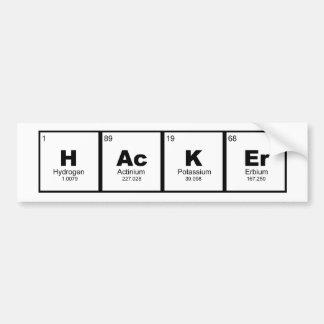 Adesivo De Para-choque mesa periódica da química da HASTE do