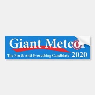 Adesivo De Para-choque Meteoro gigante 2020 pro & anti tudo candidato