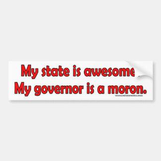Adesivo De Para-choque Meu governador é um parvo