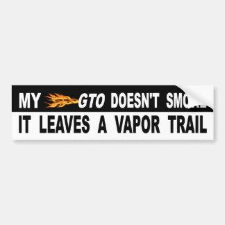Adesivo De Para-choque Meu GTO não o fuma deixa uma fuga do vapor