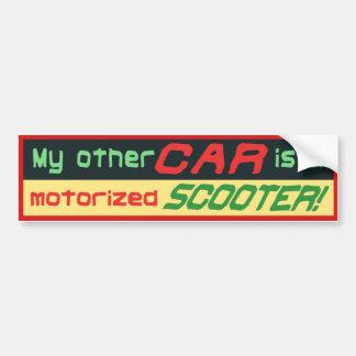 Adesivo De Para-choque Meu outro carro é um PATINETE motorizado!