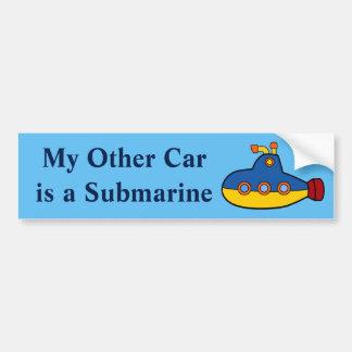 Adesivo De Para-choque Meu outro carro é um submarino