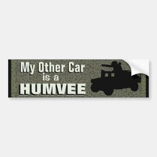 Adesivo De Para-choque Meu outro carro é umas forças armadas engraçadas