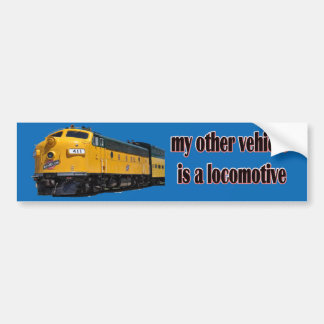 Adesivo De Para-choque Meu outro veículo é CNW locomotivo