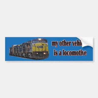 Adesivo De Para-choque Meu outro veículo é CSX locomotivo
