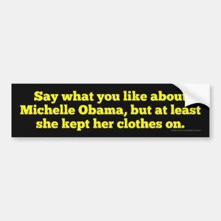 Adesivo De Para-choque Michelle Obama manteve-a roupa sobre