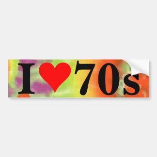 Adesivo De Para-choque Mim autocolante no vidro traseiro do coração 70s