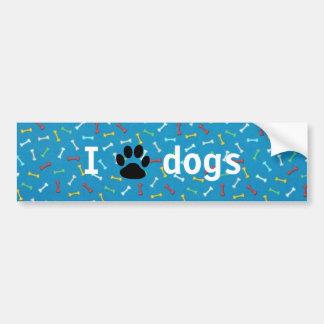 Adesivo De Para-choque Mim cães do 🖤