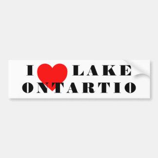 Adesivo De Para-choque Mim coração o Lago Ontário