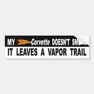 Adesivo De Para-choque Minha Corveta não o fuma deixa uma fuga do vapor
