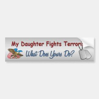 Adesivo De Para-choque Minha filha luta o terrorismo