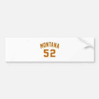 Adesivo De Para-choque Montana 52 designs do aniversário