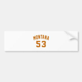 Adesivo De Para-choque Montana 53 designs do aniversário