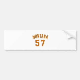 Adesivo De Para-choque Montana 57 designs do aniversário