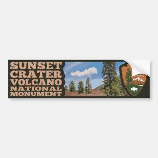 Adesivo De Para-choque Monumento nacional do vulcão da cratera do por do