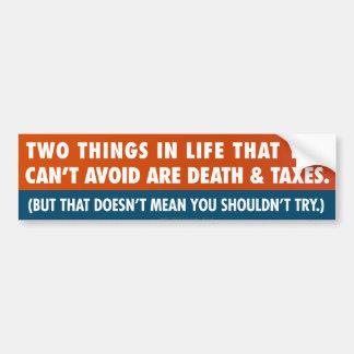Adesivo De Para-choque Morte e impostos