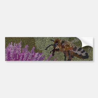 Adesivo De Para-choque Mosaico da abelha