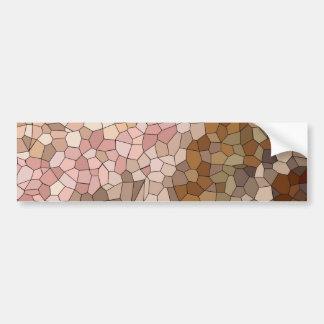 Adesivo De Para-choque Mosaico do tom de pele