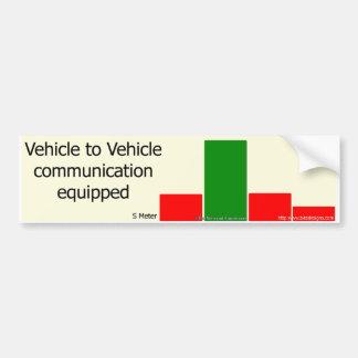 Adesivo De Para-choque Motorista a uma comunicação do motorista