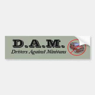 Adesivo De Para-choque Motoristas contra carrinhas