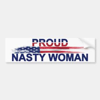 Adesivo De Para-choque Mulher desagradável orgulhosa