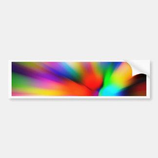 Adesivo De Para-choque Multi luzes borradas da cor