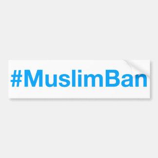 Adesivo De Para-choque #MuslimBan