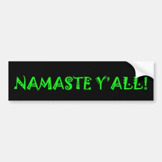 Adesivo De Para-choque Namaste você - autocolante no vidro traseiro da