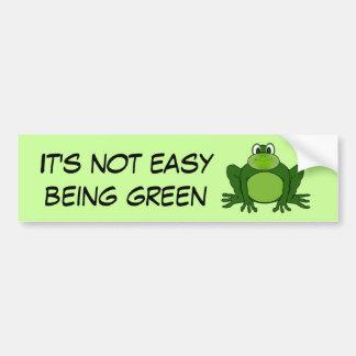 Adesivo De Para-choque Não é ser fácil verde - autocolante no vidro