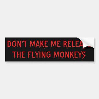 Adesivo De Para-choque Não me faça macacos do vôo da liberação vermelho