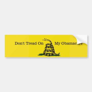 Adesivo De Para-choque Não pise em meu Obamacare bumpersticker.