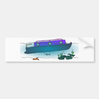 Adesivo De Para-choque Narrowboat afundado