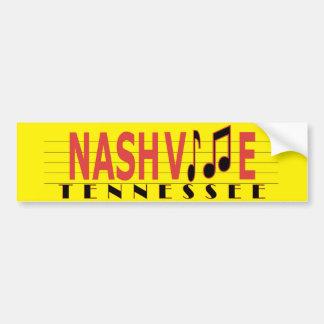 Adesivo De Para-choque Nashville - vive a música!