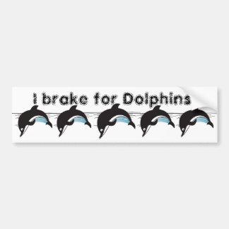 Adesivo De Para-choque Natação com golfinhos