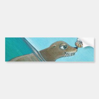 """Adesivo De Para-choque """"Nautilus"""" o leão de mar"""