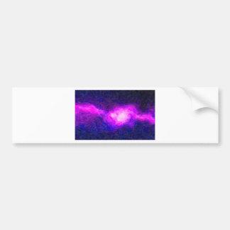 Adesivo De Para-choque Nebulla abstrato com a nuvem cósmica galáctica